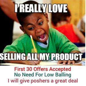 Poshers Just ask for the price and I will accept!!